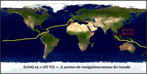 carte de notre tour du monde